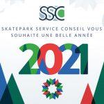 Carte-de-voeux-2021 skatepark service conseil